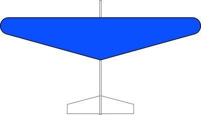 グライダー楕円翼タイプ(青)