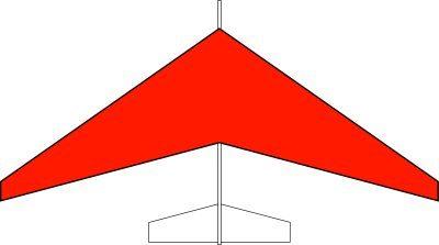 グライダー後退翼タイプ(赤)