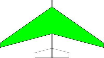 グライダー後退翼タイプ(緑)