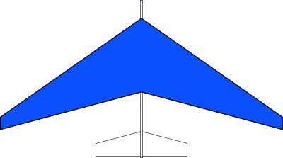 グライダー後退翼タイプ(青)